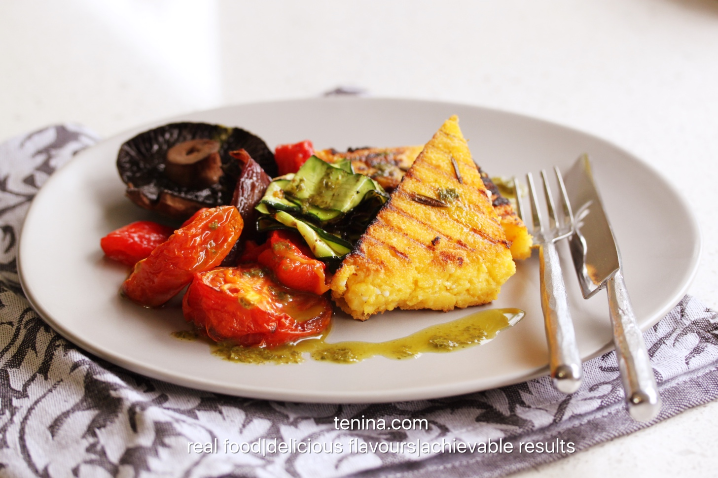 Thermomix recipe: Grilled Polenta with Roasted Vegies and · Tenina ...