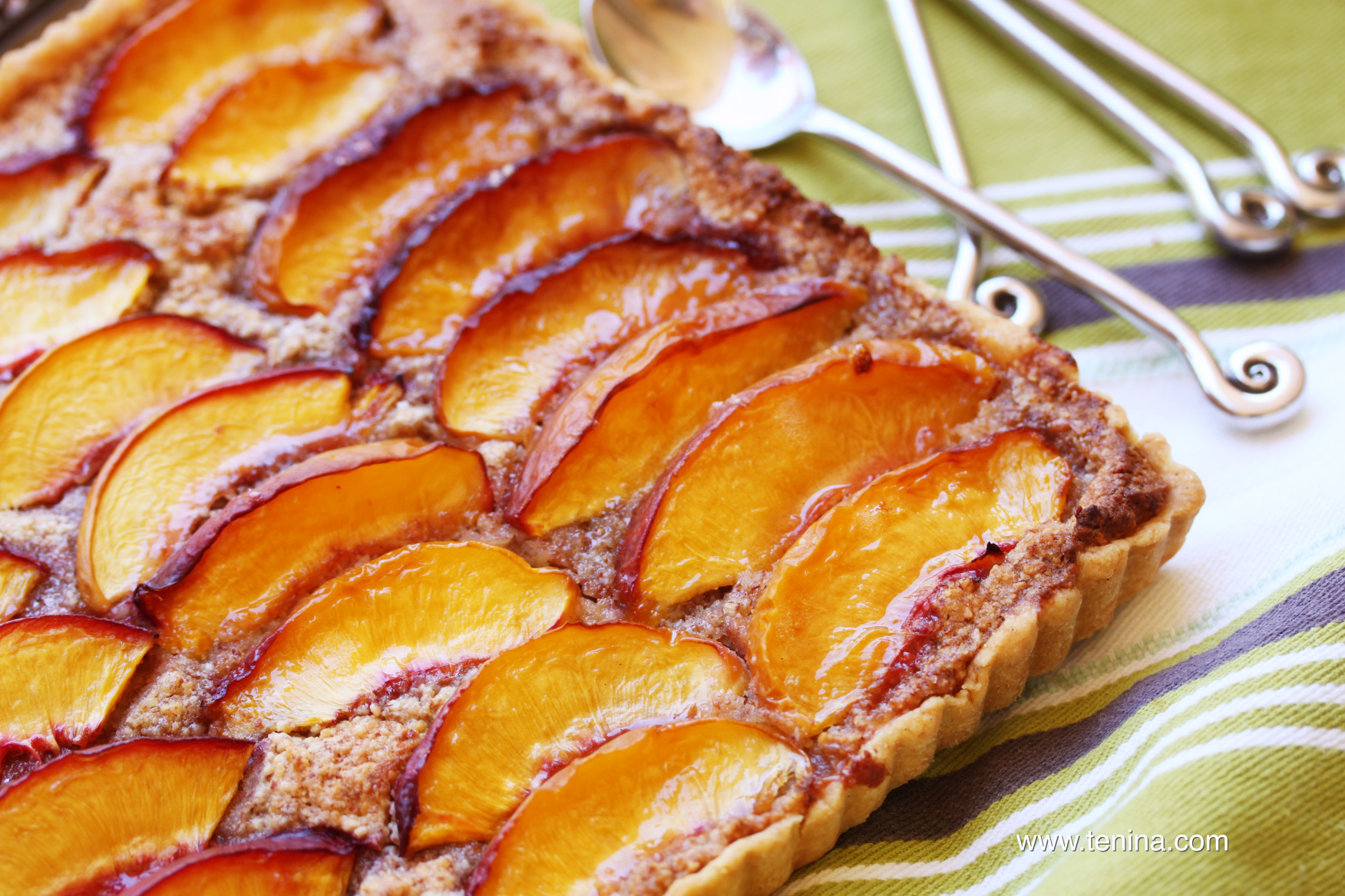 thermomix recipe nectarine and almond tart