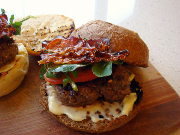 Photo of Burgers With Asagio Cheese