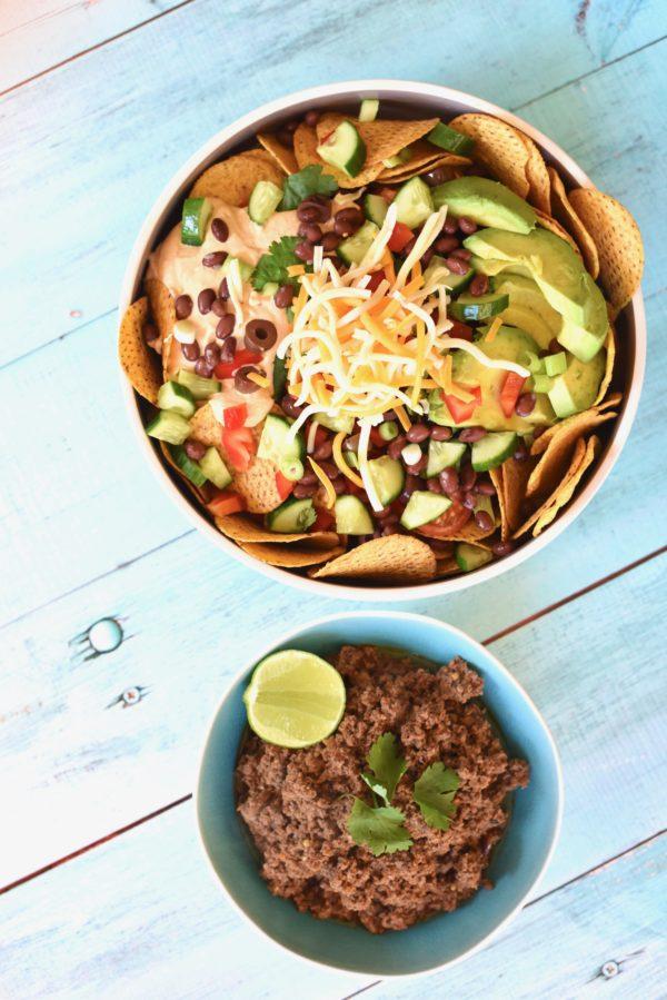 Beef Nacho Salad