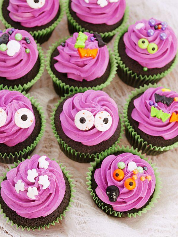 Black Halloween Cupcakes P Fotor