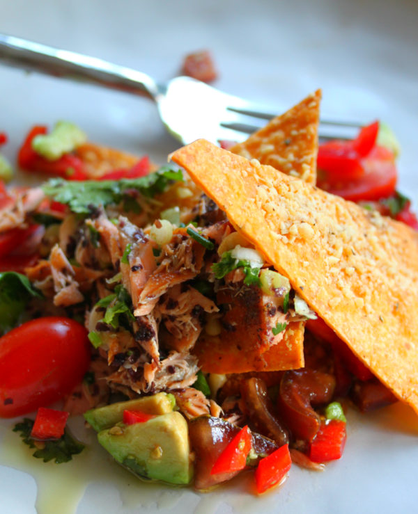 Blackened Smoked Trout with Salsa