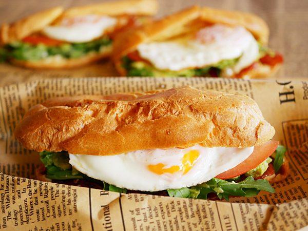 Breakfast Egg and Bacon Eclairs LS TENINA