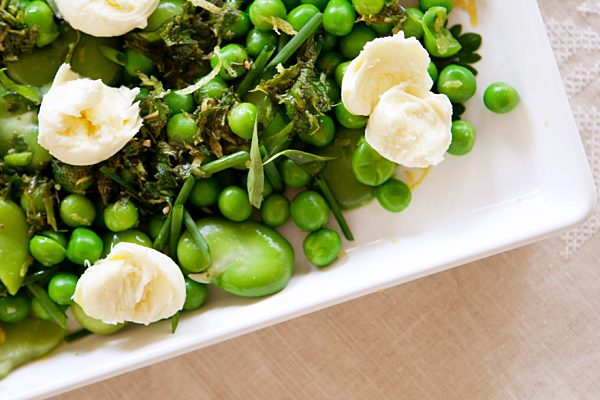 Broad Bean Pea And Lemon Salad With Bocconcini Fotor