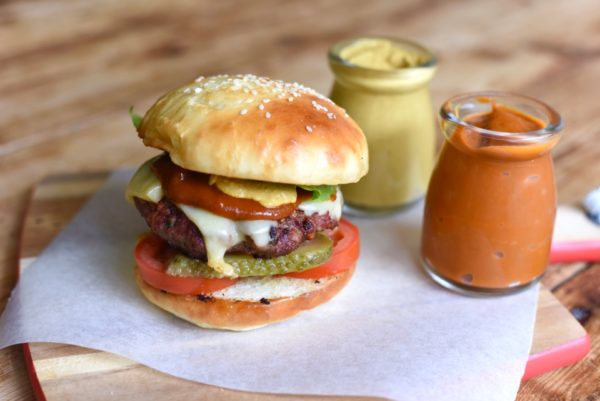 Burger With Mustard And Sauce Copy