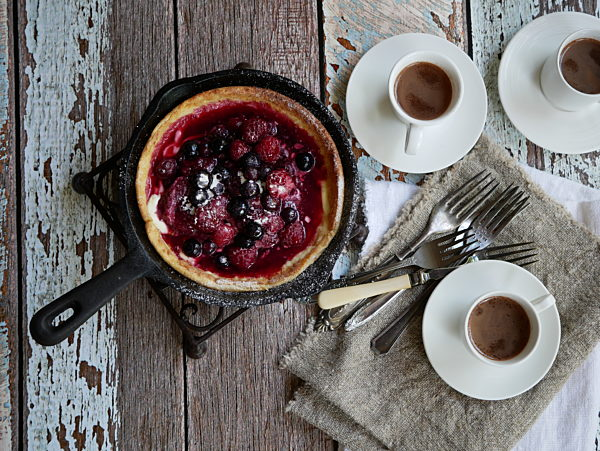 Photo of Dutch Baby Pancakes with Slow Roasted Champagne Berries