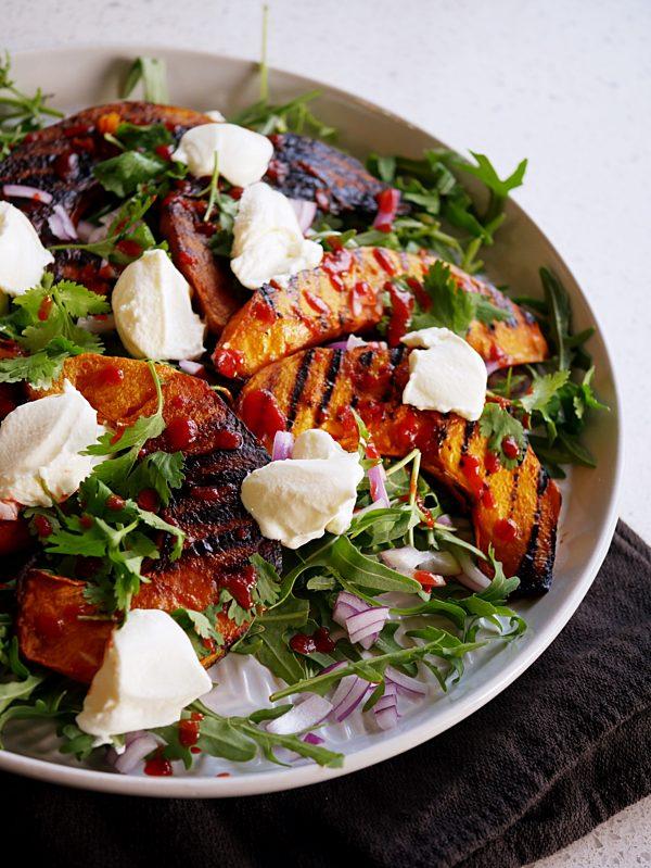 Char Grilled Pumpkin Salad Fotor