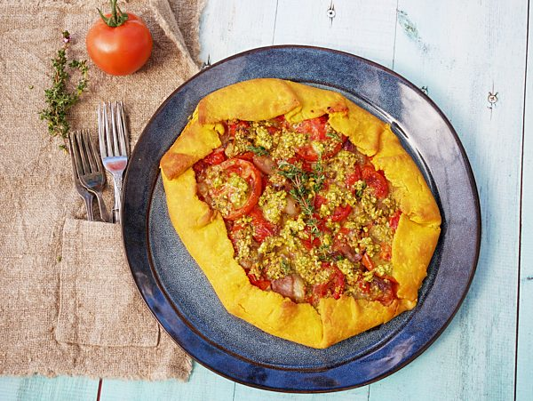 Cheese Tomato and Onion Tart cooked calender