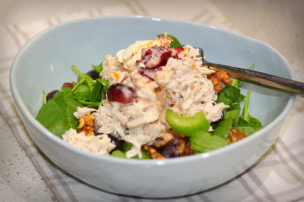 Chicken Grapes and Walnut Salad 1