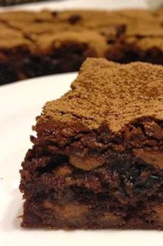 Choc-prune-brownie