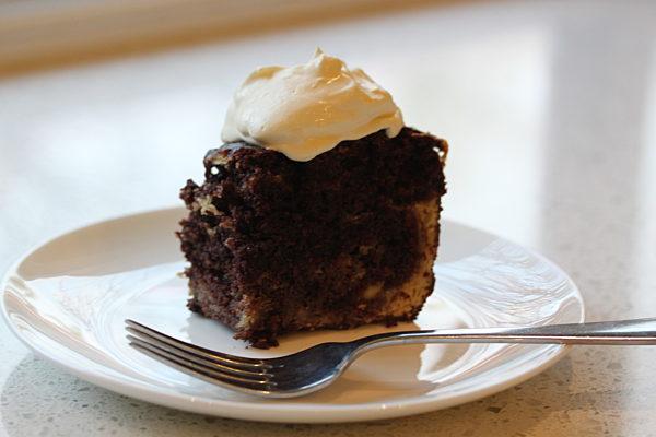 Chocolate Mud Cake with Cream Cheese Swirl