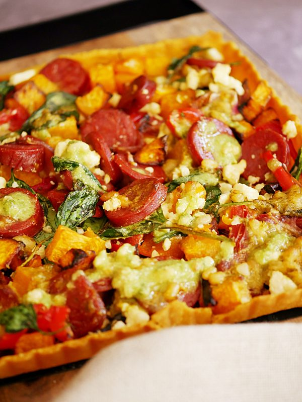 Chorizo Pumpkin Pesto Tart P Tenina
