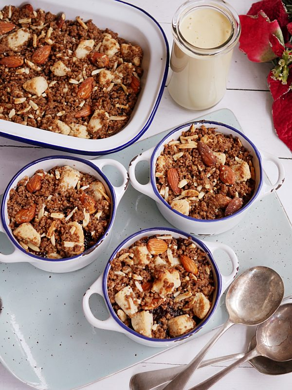 Christmas Crumble with Brandy Cream Sauce far out P MOT