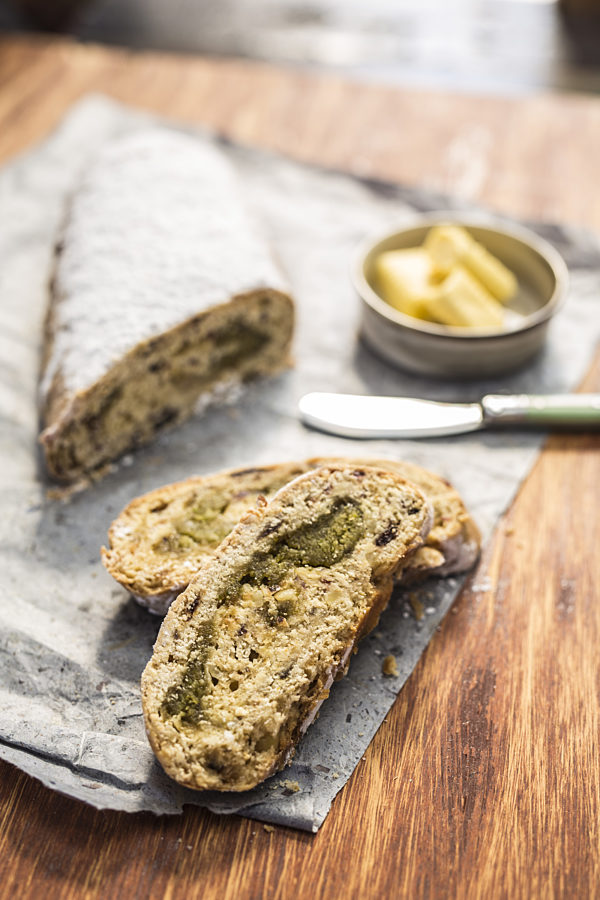 Christmas-Stollen with Pistachio Marzipan