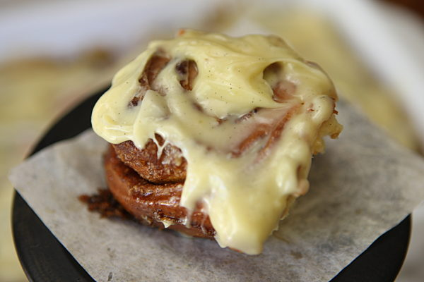 Cinnamon Scrolls with Cream Cheese Vanilla Frosting