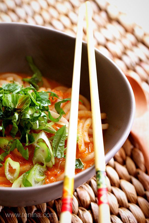 Curried Minced Prawns With Rice Noodles Pjpg