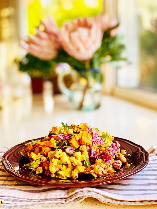 Curried Pumpkin And Cauliflower Salad Fotor