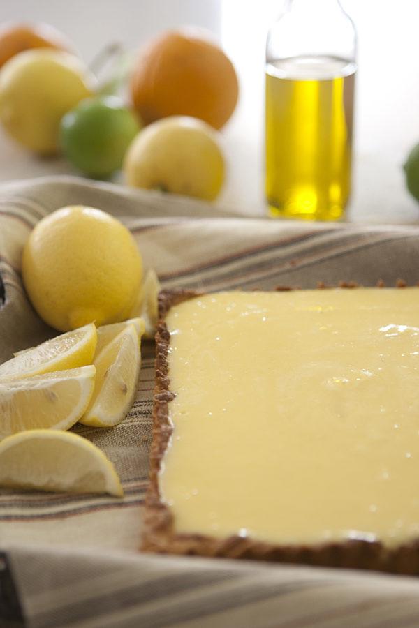 EVOO Lemon Tart