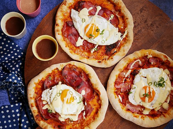 Eggs and Bacon Benny Pizza LS DROP