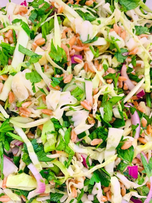 Farro and Cabbage Salad OH P
