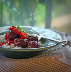 Five Spice Sweet and Sour Meatballs both pics