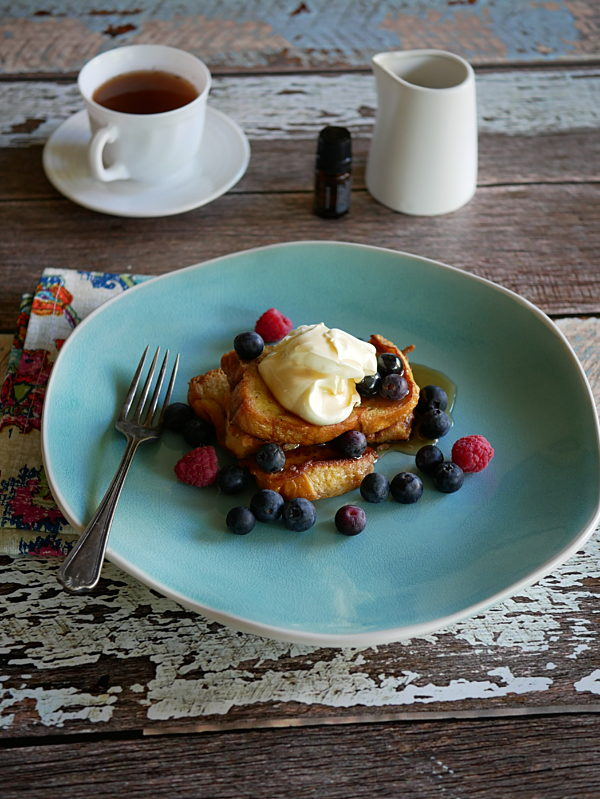French Toast With Blueberries And Cardamom 1