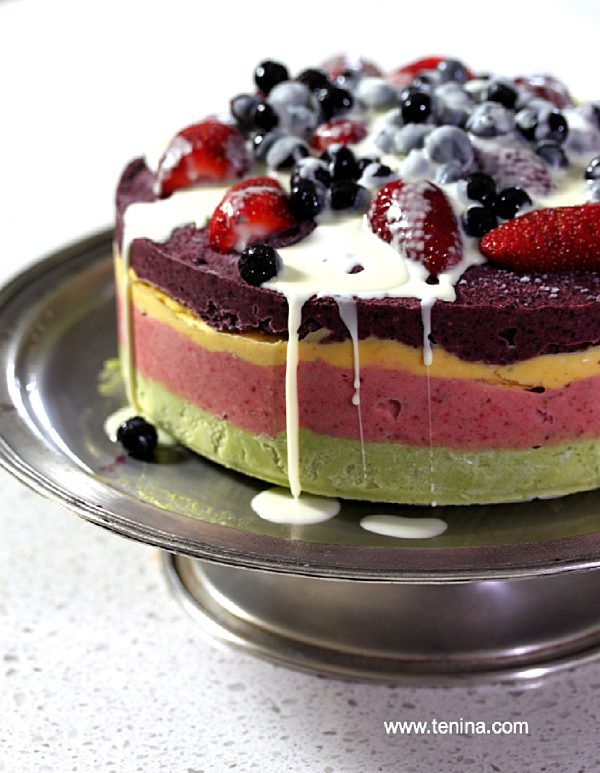 Fruity Layered Torte With White Ice Magic Fotor