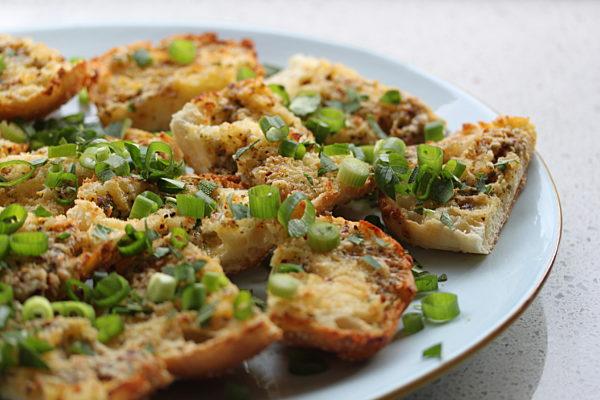 Garlic-Cheesey-Crostini