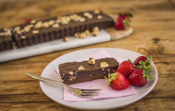 Hazelnut Fudge Slice