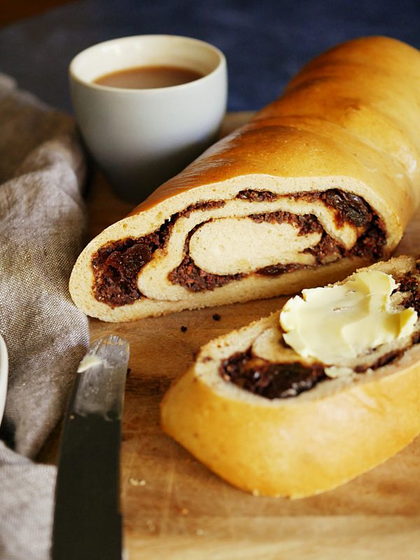 Inca Berry Brew Choc Scroll Loaf CUP Thermomix