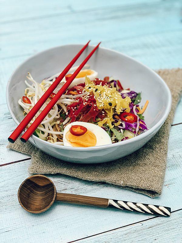 Korean Cold Noodle Bowls