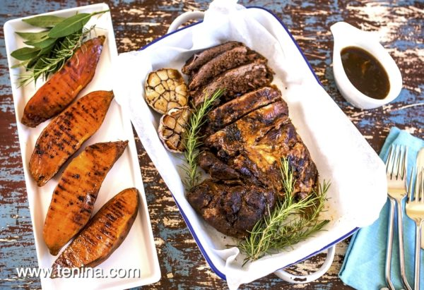 Photo of Slow Roast Lamb with Grilled Sweet Potatoes