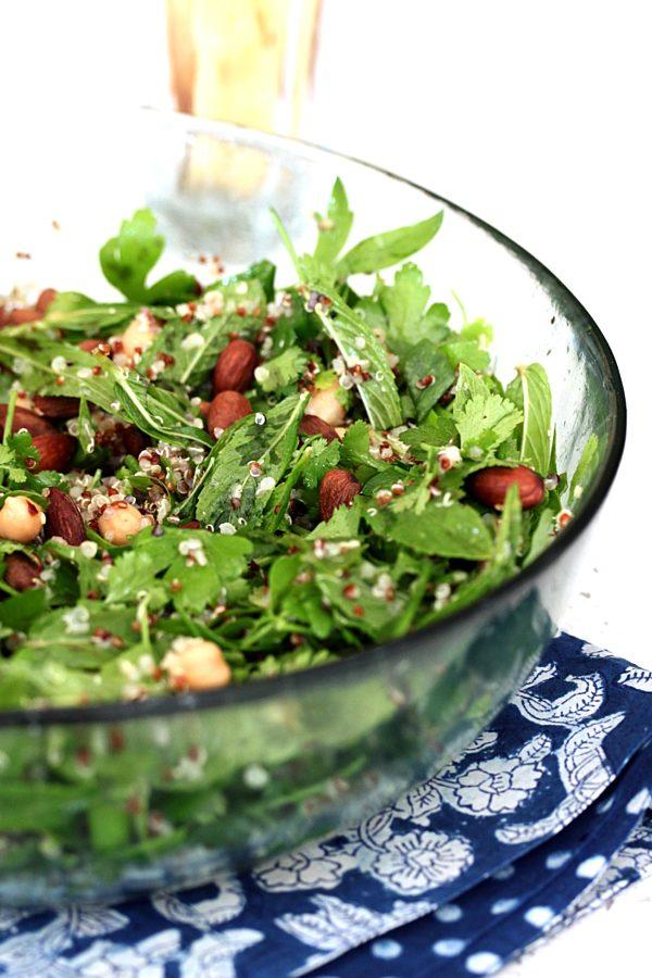 Leafy Herb Lemon And Chickpea Salad Fotor