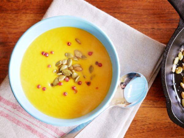 Leek And Butternut Pumpkin Soup With Miso Butter Fotor