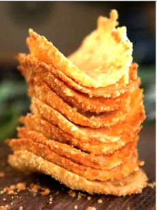 Lemon Parmesan Wafers