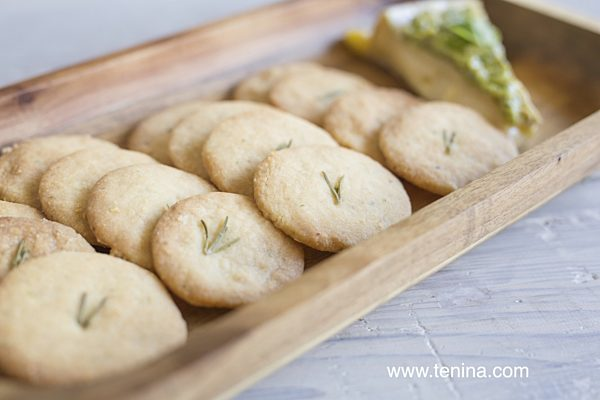 Photo of Macadamia Parmesan Shortbread Wafers