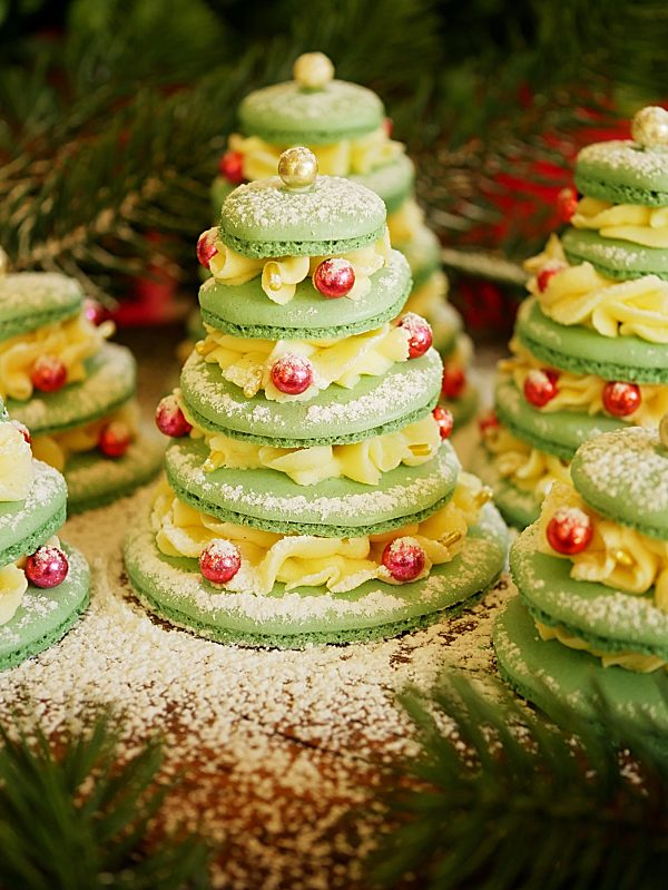 Macaron Christmas Tree forest 1 P Thermomix