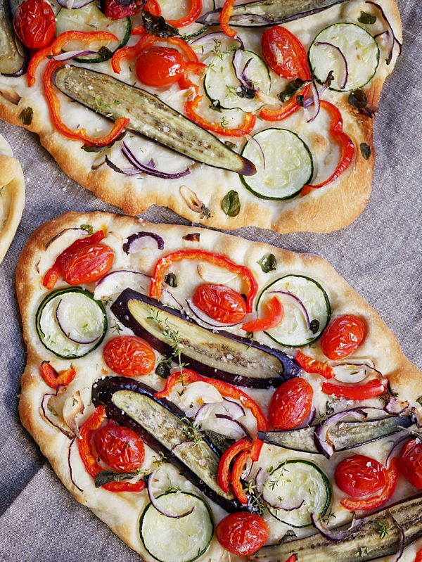 Mediterranean Roasted Veg Flatbread