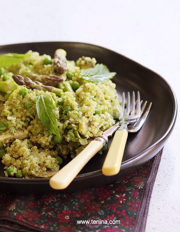 Minted Green Quinoa Pilaf Fotor