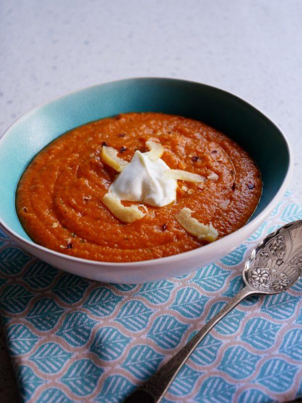 Moroccan Lentil Pumpkin Soup Fotor