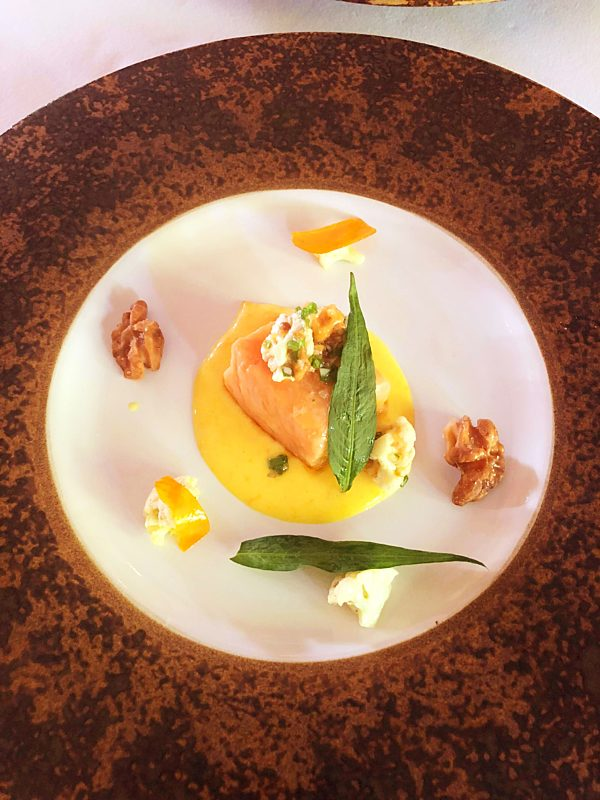Mozaic Salmon Confit Dish Fotor