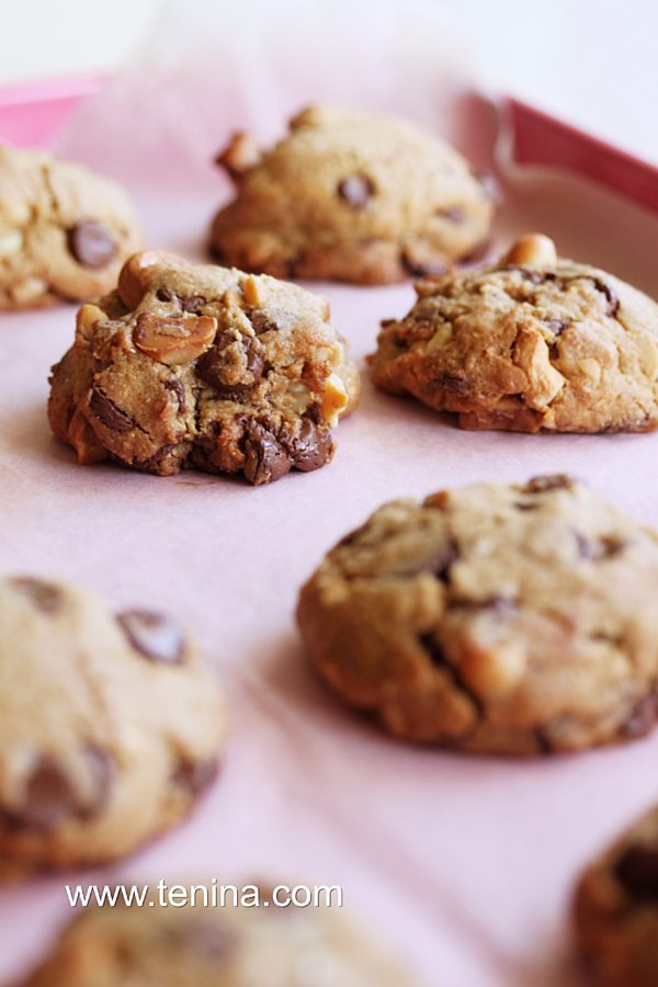 Nutty Choc Chip Cookies Fotor