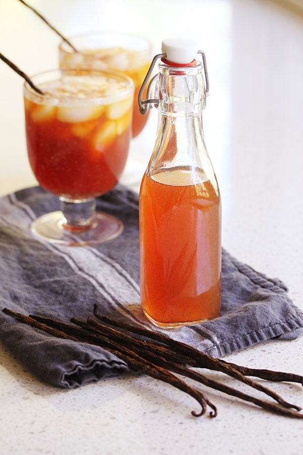 Peach And Maple Iced Tea Syrup Fotor