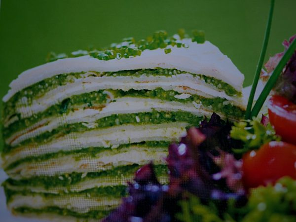 Pesto crepe Stack