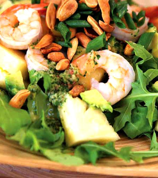 Prawn Peanut Pineapple Salad