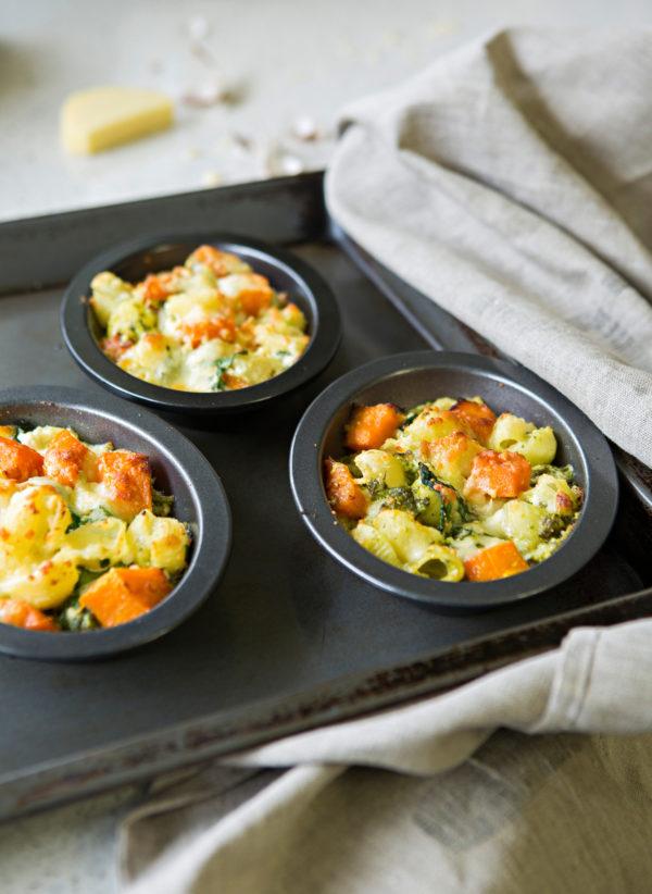 Pumpkin Ricotta And Spinach Pasta Bake