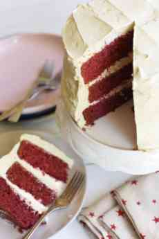 Red Velvet Cake And Ermine Frosting