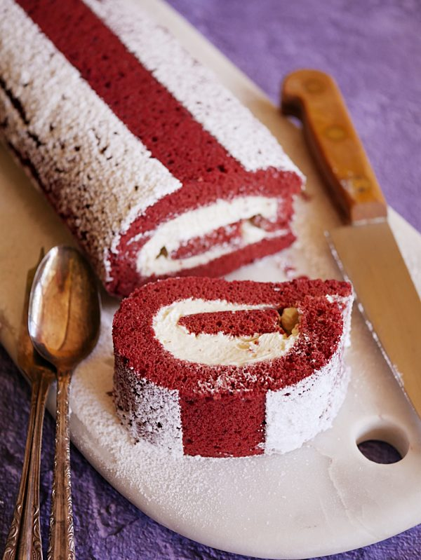 Red Velvet Swiss Roll P Thermomix