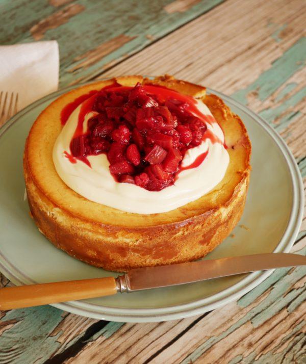 Rhubarb Raspberry Cheesecake P Fotor