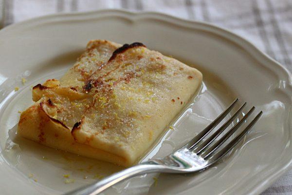 Ricotta Filled baked pancakes